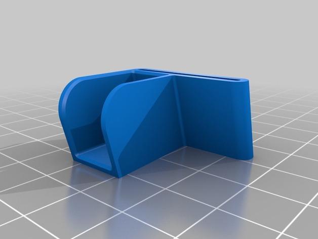 驾驶杆手机固定夹 3D模型  图2
