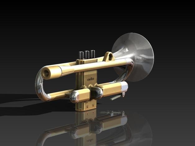 全尺寸喇叭 3D模型  图2