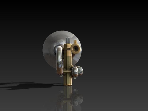 全尺寸喇叭 3D模型  图3