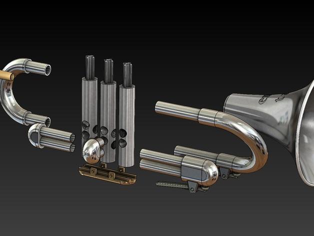 全尺寸喇叭 3D模型  图11