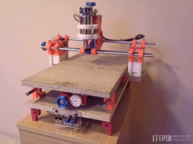 可移动数控机床 3D模型  图1