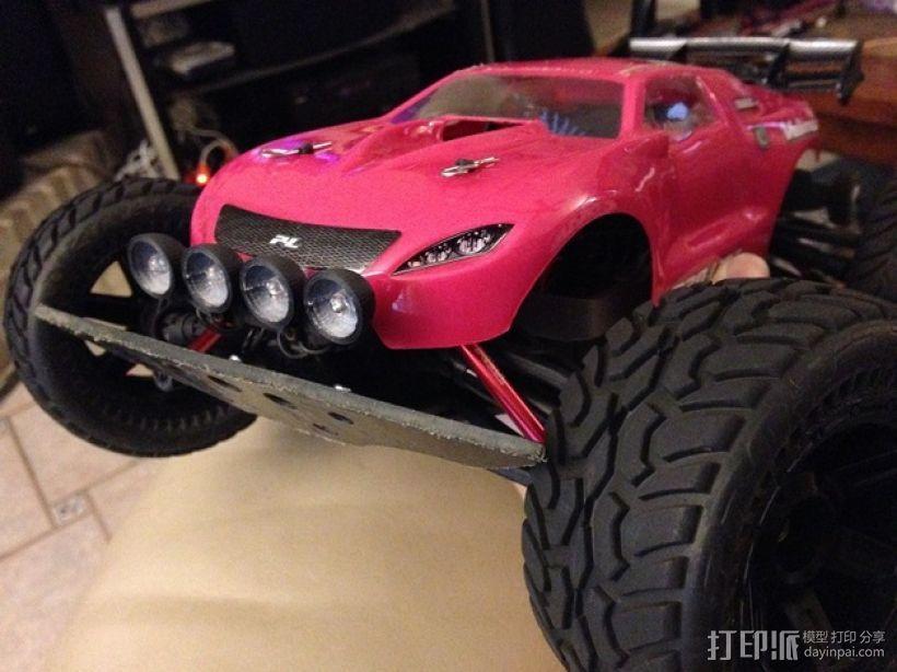 1/16Traxxas E-Revo越野车前置LED 灯 3D模型  图1