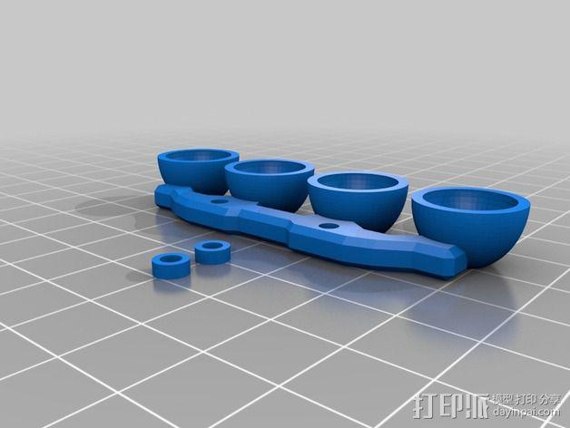 1/16Traxxas E-Revo越野车前置LED 灯 3D模型  图3