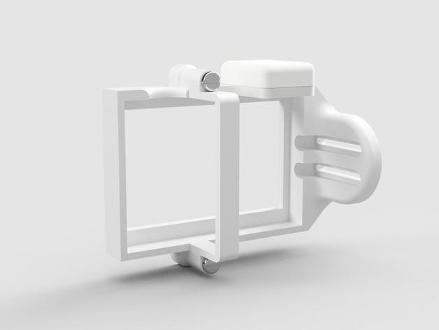 DJI Phantom 2的MotorPixie 2轴杆 3D模型  图3