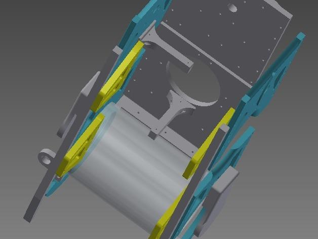 TimROV-一个开源远程追踪操作控制四轮车 3D模型  图3