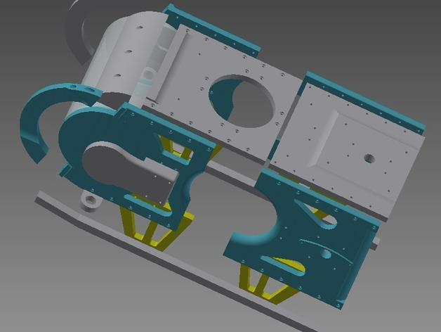 TimROV-一个开源远程追踪操作控制四轮车 3D模型  图2