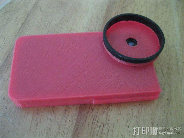 iPhone 4s望远镜适配器 3D模型  图7