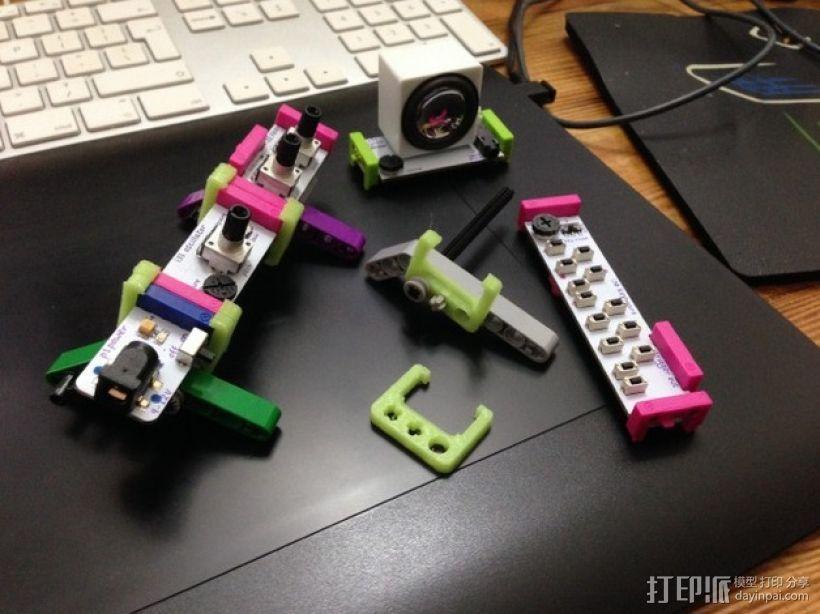 乐高littlebits适配器 3D模型  图1