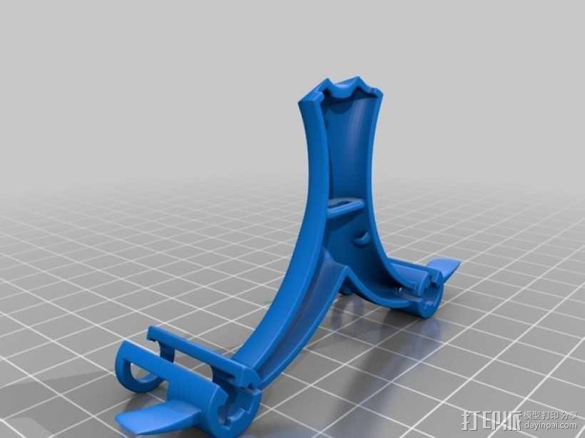 迷你6轴飞行器主架 3D模型  图4