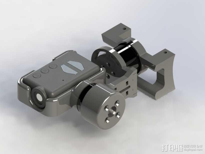 Mobius Action Cam & Boscam HD 19的 Qav 400 刷架 3D模型  图1