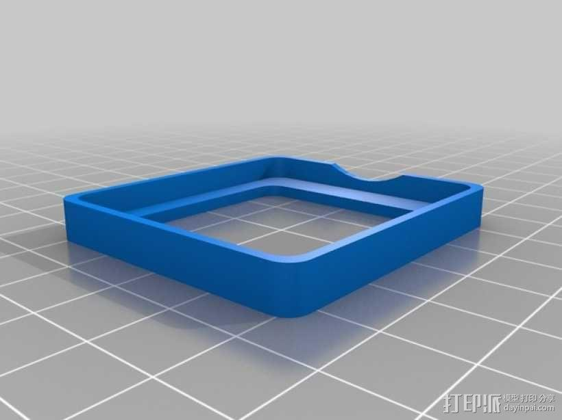 Mobius Action Cam & Boscam HD 19的 Qav 400 刷架 3D模型  图2