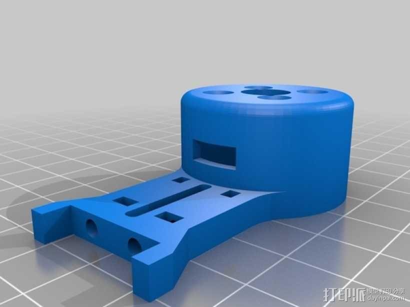 Mobius Action Cam & Boscam HD 19的 Qav 400 刷架 3D模型  图5