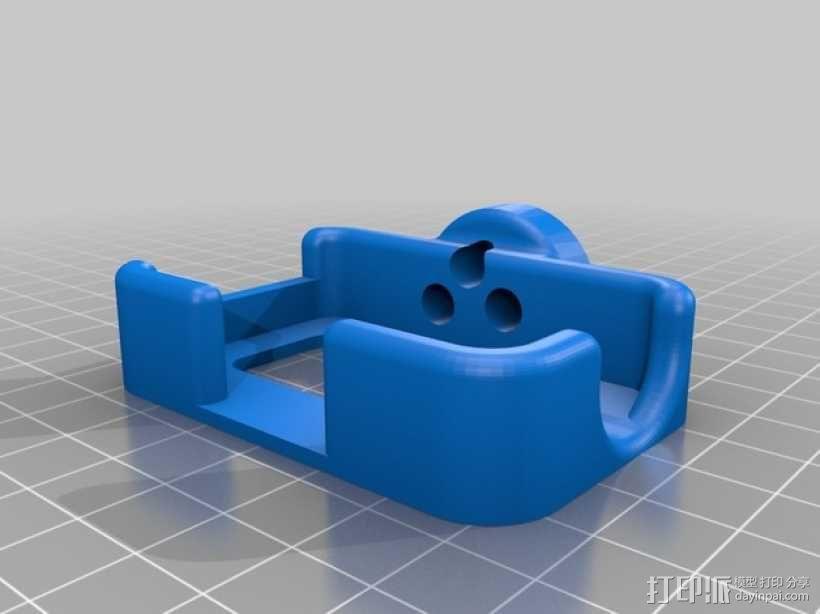 Mobius Action Cam & Boscam HD 19的 Qav 400 刷架 3D模型  图6