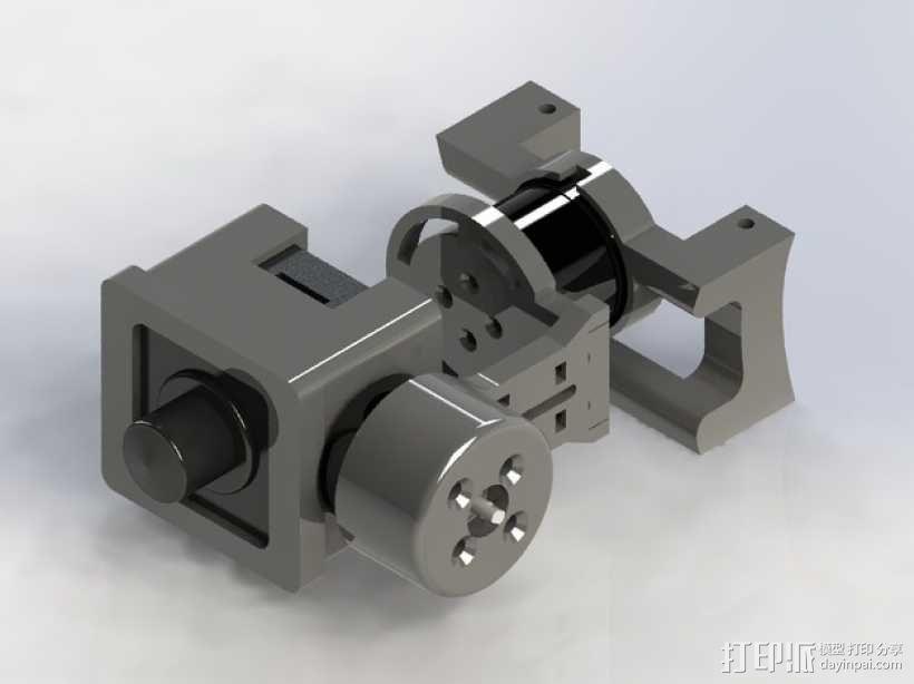 Mobius Action Cam & Boscam HD 19的 Qav 400 刷架 3D模型  图9
