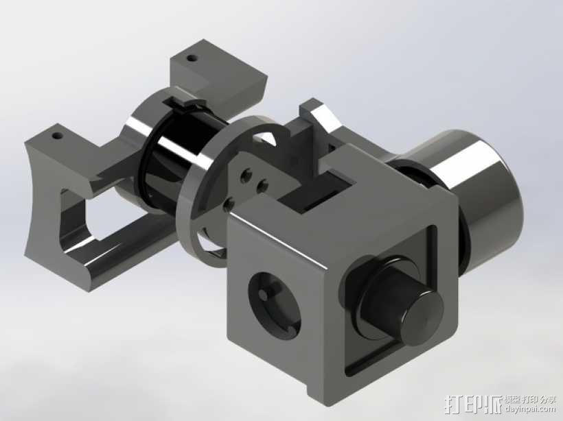Mobius Action Cam & Boscam HD 19的 Qav 400 刷架 3D模型  图8