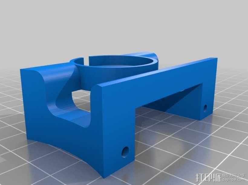 Mobius Action Cam & Boscam HD 19的 Qav 400 刷架 3D模型  图7