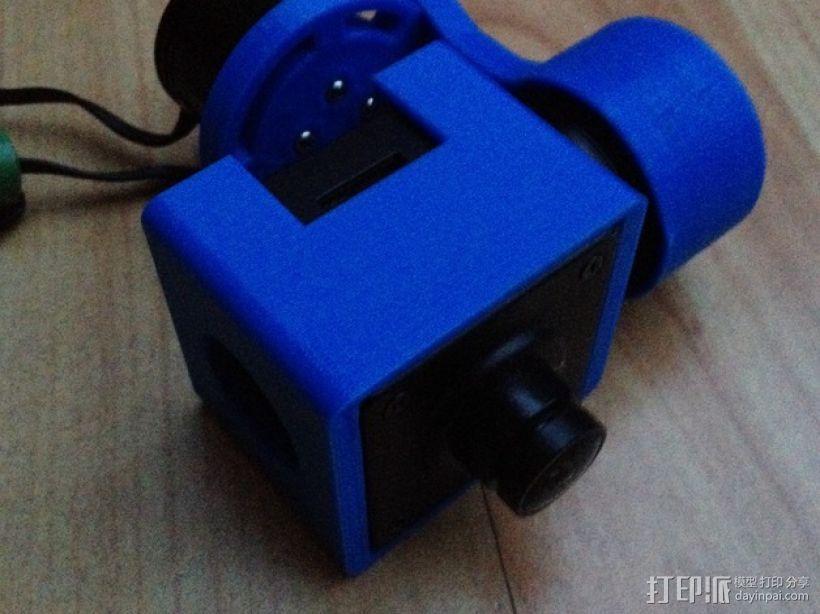 Mobius Action Cam & Boscam HD 19的 Qav 400 刷架 3D模型  图11