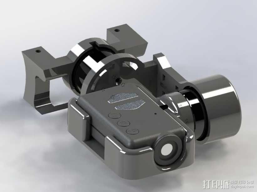 Mobius Action Cam & Boscam HD 19的 Qav 400 刷架 3D模型  图13