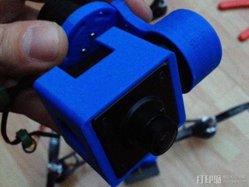 Mobius Action Cam & Boscam HD 19的 Qav 400 刷架 3D模型  图12