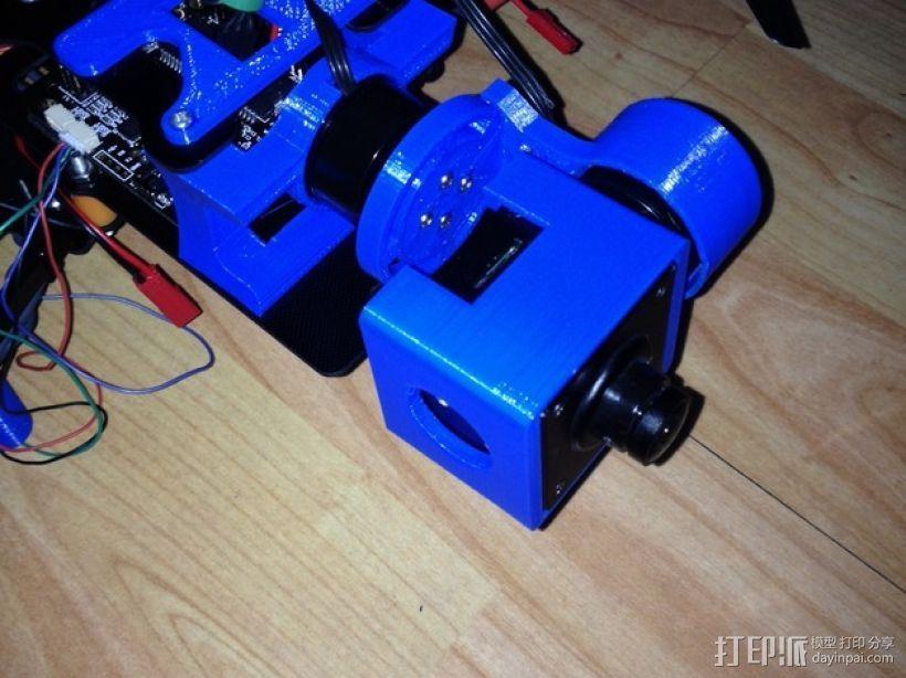 Mobius Action Cam & Boscam HD 19的 Qav 400 刷架 3D模型  图10