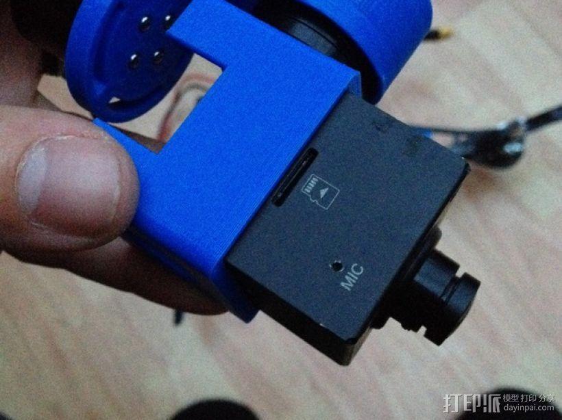 Mobius Action Cam & Boscam HD 19的 Qav 400 刷架 3D模型  图14
