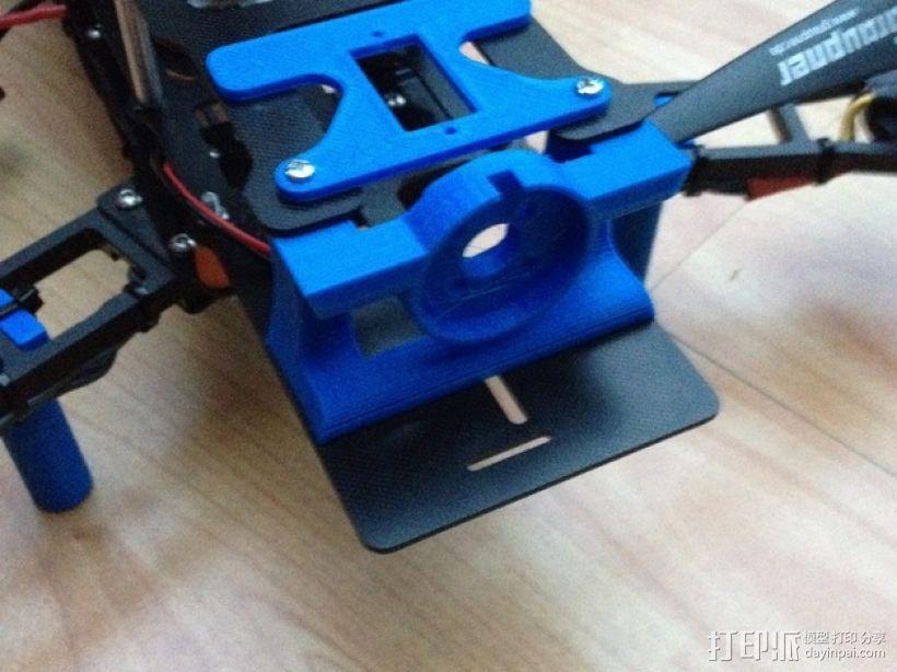 Mobius Action Cam & Boscam HD 19的 Qav 400 刷架 3D模型  图19