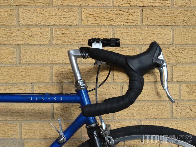 可定制自行车闪光灯固定槽 3D模型  图1