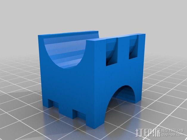 可定制自行车闪光灯固定槽 3D模型  图5
