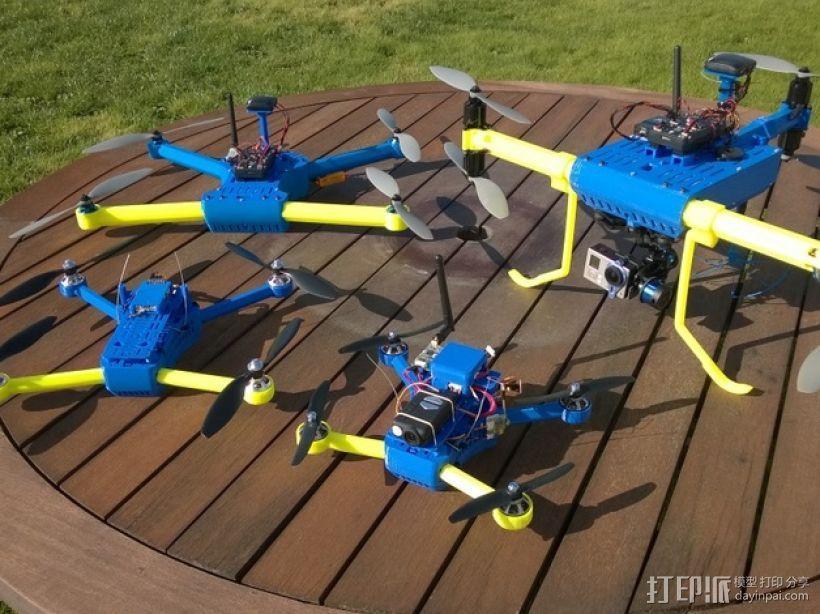 T6 / Y6 四轴飞行器 3D模型  图2