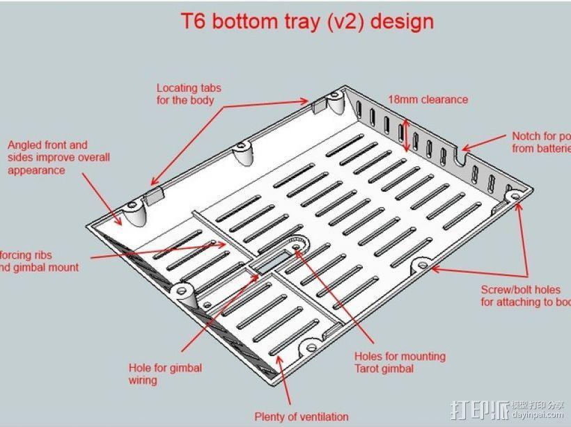 T6 / Y6 四轴飞行器 3D模型  图7