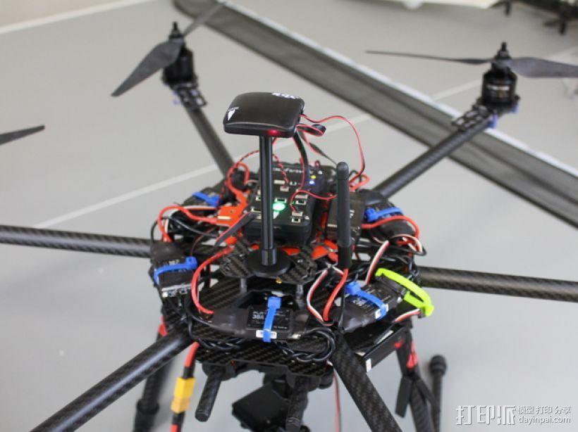 APM and Pixhawk Multirotors飞行器GPS/罗盘站架 3D模型  图3