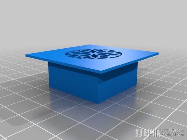 雪茄盒尤克里里 3D模型  图4