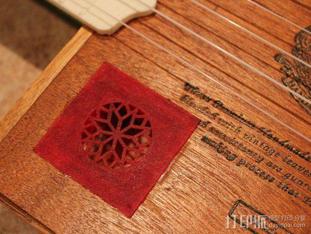 雪茄盒尤克里里 3D模型  图5
