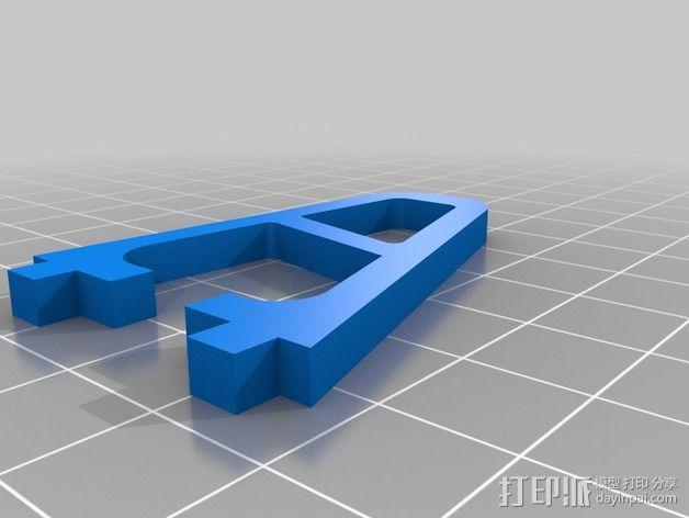 HobbyKing FPV250飞行器的站架 3D模型  图2