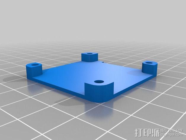 GPS固定槽 3D模型  图2