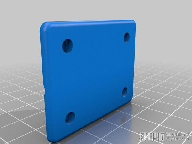 DJI远程控制器的GoPro骨架 3D模型  图2