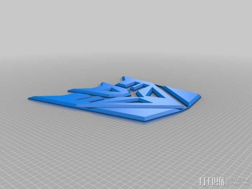 霸天虎徽章 3D模型  图1