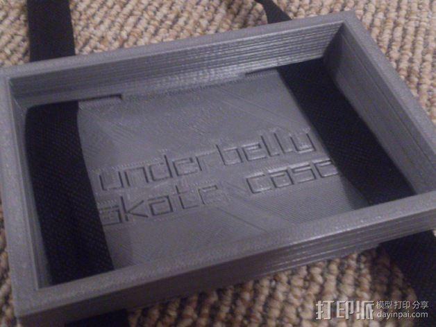 滑板背部存储盒 3D模型  图3