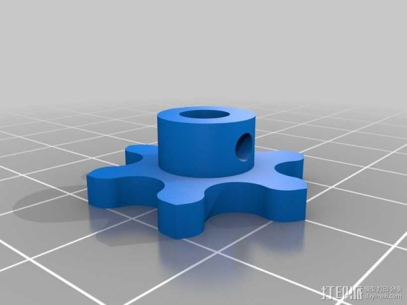 链轮和链条 3D模型  图3