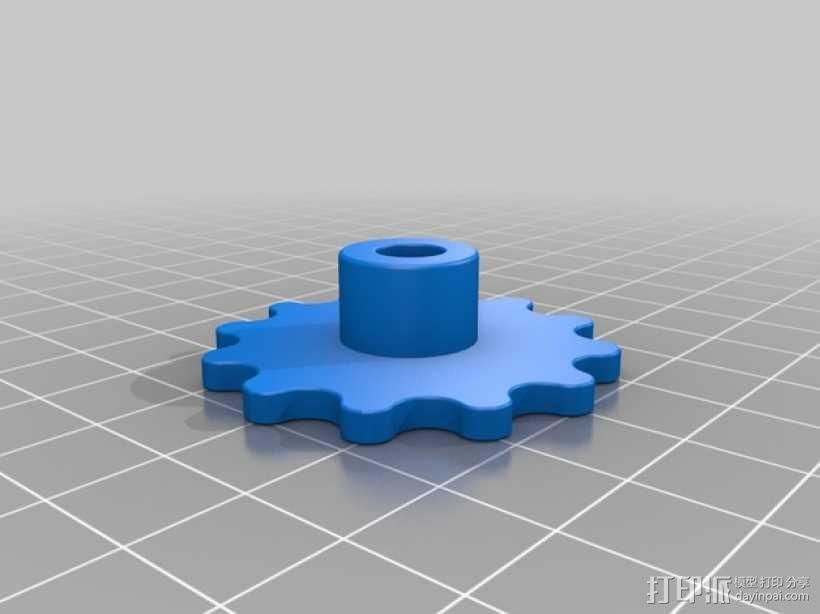 链轮和链条 3D模型  图2