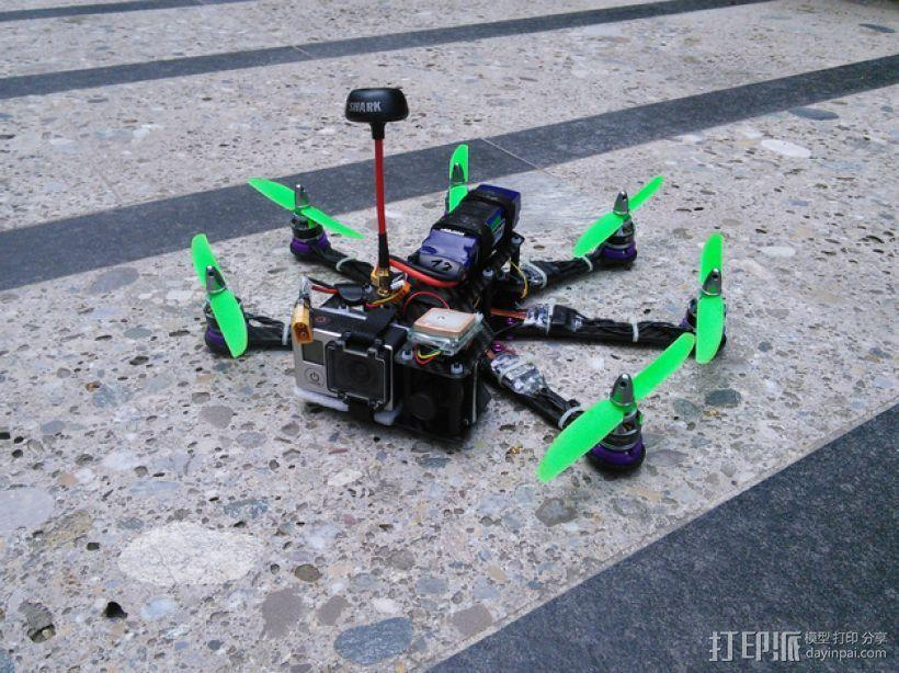Pollux v2四轴飞行器的10度前倾马达 3D模型  图1
