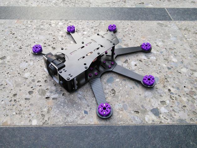 Pollux v2四轴飞行器的10度前倾马达 3D模型  图10