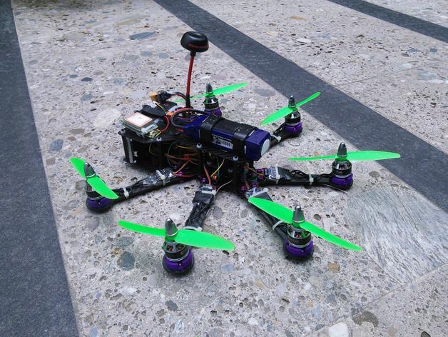 Pollux v2四轴飞行器的10度前倾马达 3D模型  图15