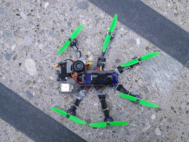 Pollux v2四轴飞行器的10度前倾马达 3D模型  图14