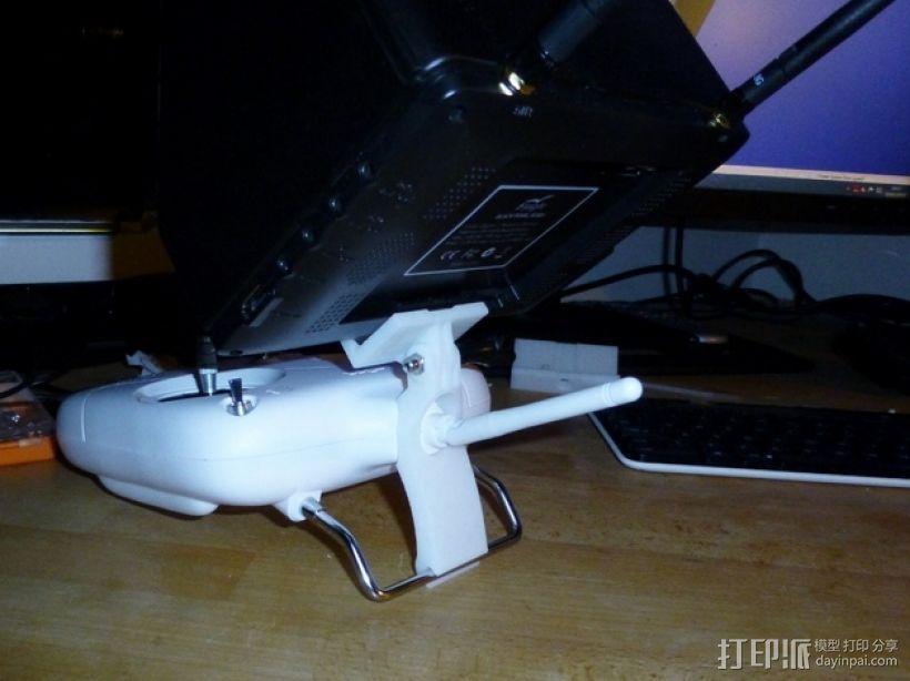 DJI  Phantom 控制器固定槽 3D模型  图1