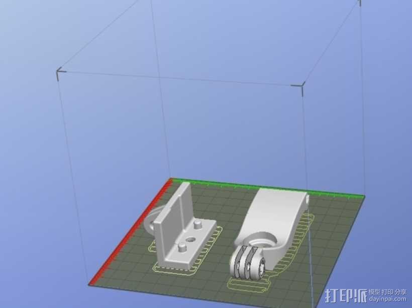 DJI  Phantom 控制器固定槽 3D模型  图7