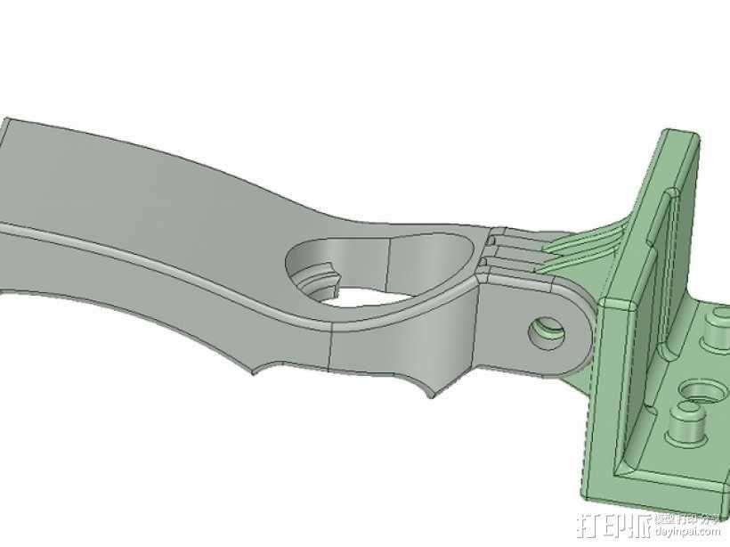 DJI  Phantom 控制器固定槽 3D模型  图4