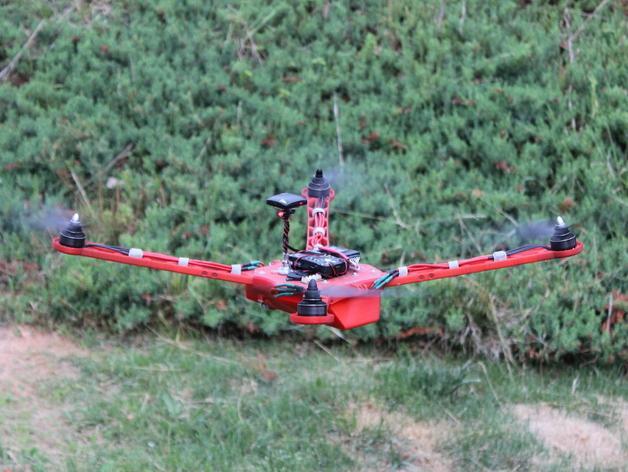 Delta Elite 四轴飞行器骨架 3D模型  图3