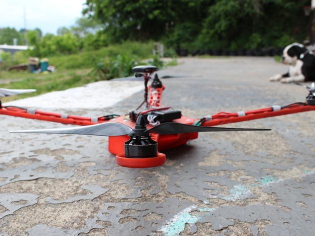 Delta Elite 四轴飞行器骨架 3D模型  图5