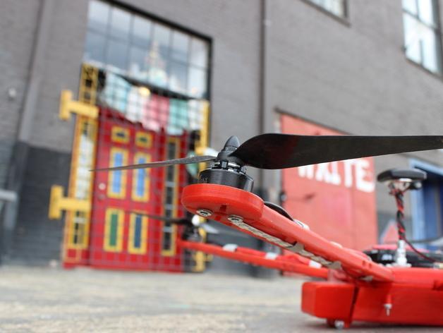 Delta Elite 四轴飞行器骨架 3D模型  图4